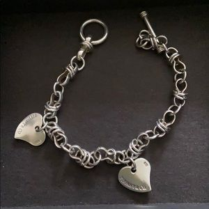 Jewelry - Sterling silver bracelet with hearts